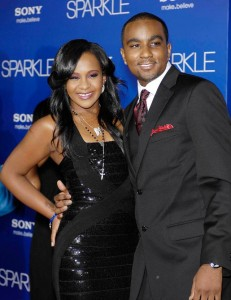 "Bobbi Kristina Brown and Nick Gordon at premiere of ""Sparkle"""